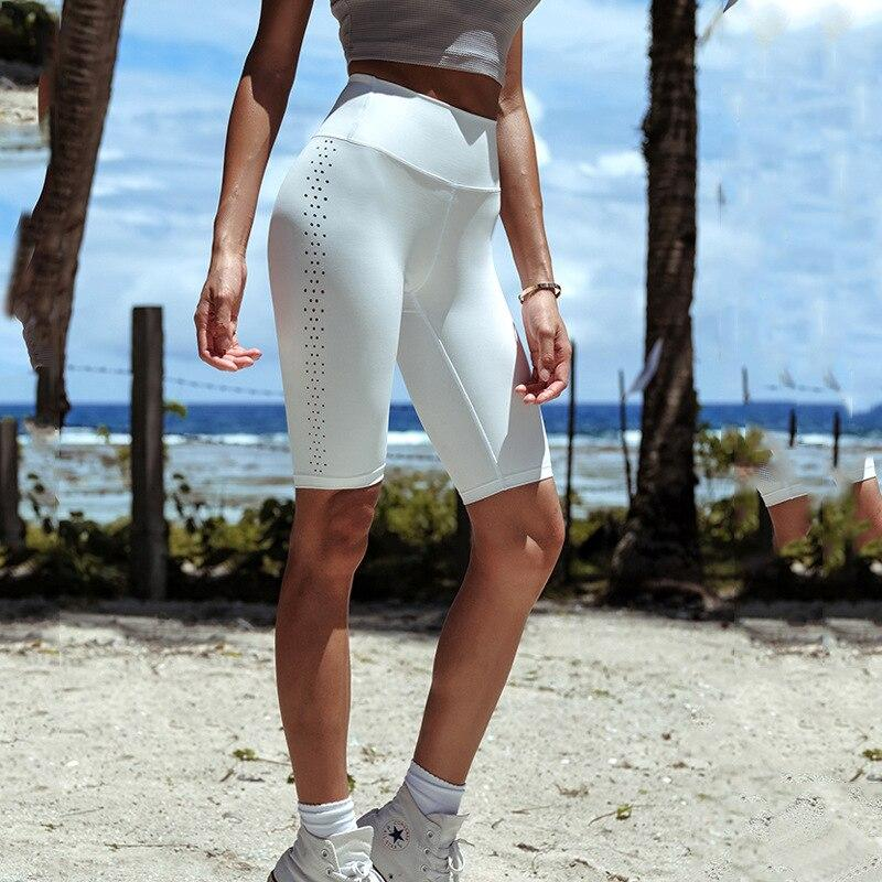 Women's Mesh High Waist Peach Hip Yoga Shorts