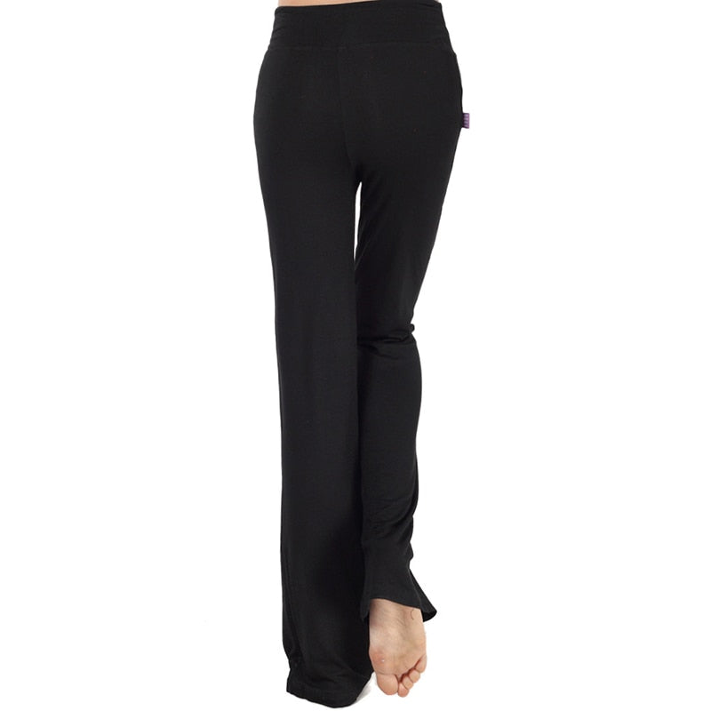 a1-Black bootleg yoga pants 4XL Plus Size  High Waisted