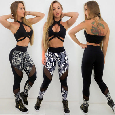 2019 Women High Waist Fitness Scrunch Long Trousers Leggings