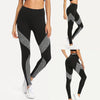 Stitching Dark Gray Workout Leggings