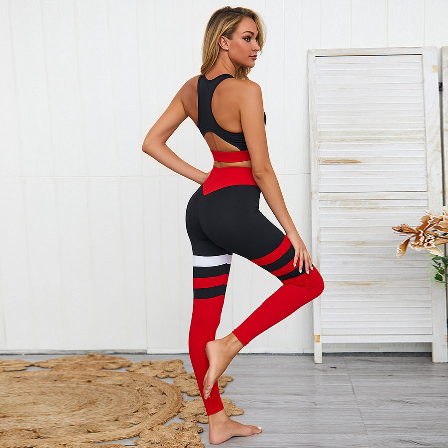 High Waist Push Up hip Breatahble Yoga Set