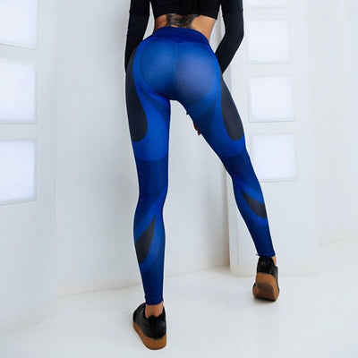 Women's Fashion Printing Push Up elastic Skinny Legging