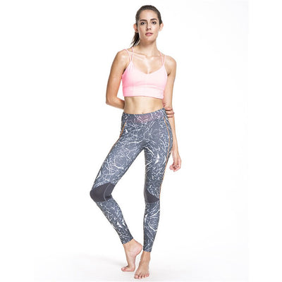 2019 New Casual Printed Stitching Woman Leggings