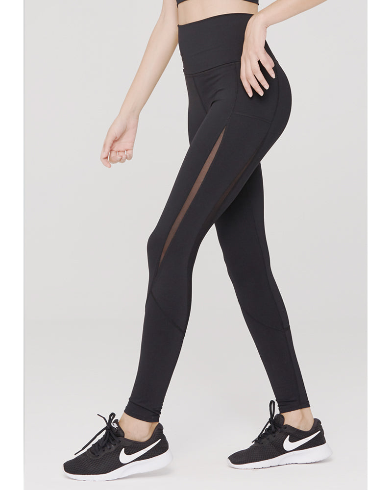 High waist yoga black leggings