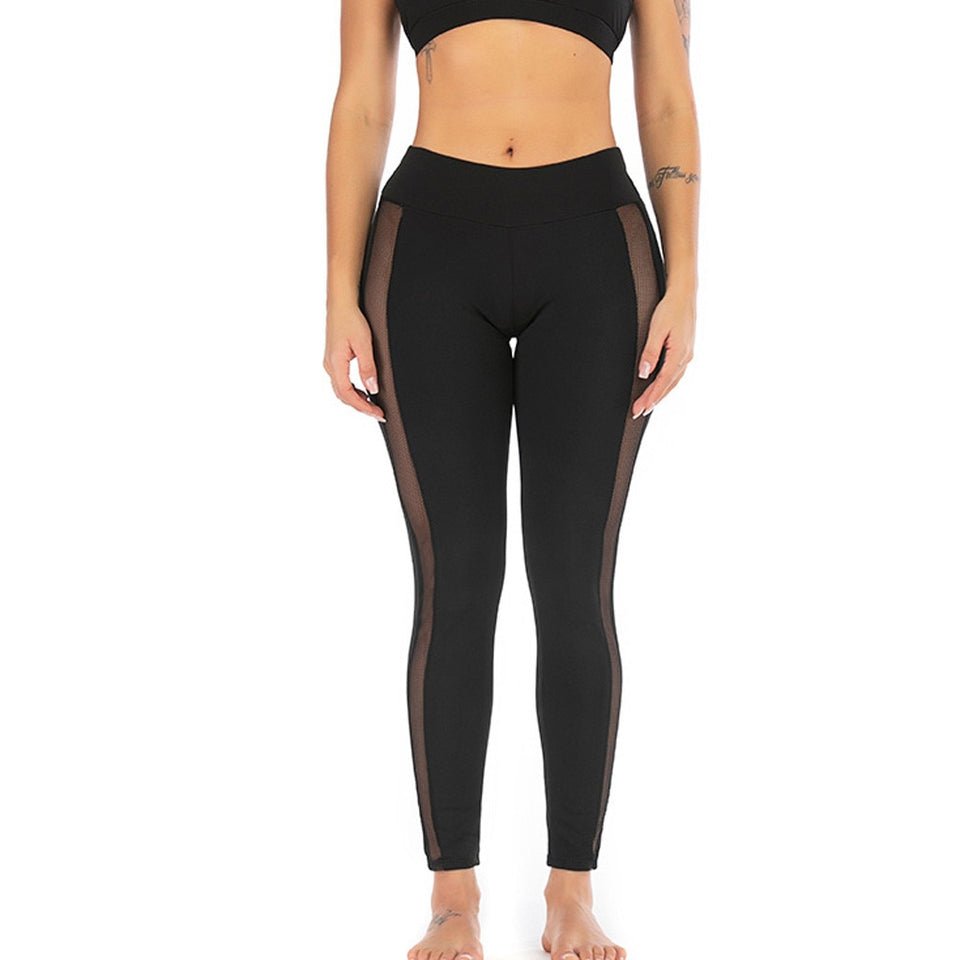 Breathable Pants Stretch High Waist Run Fitness Leggings