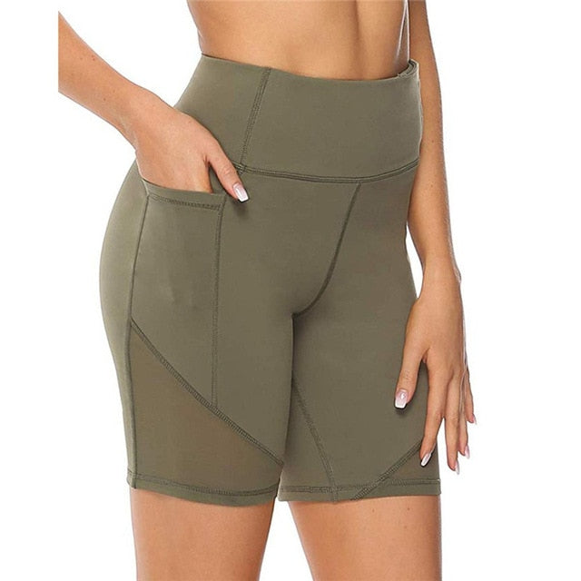 High Waist Elasticity Athletic Shorts