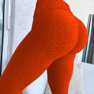 Red Push Up High waisted anti-cellulite leggings