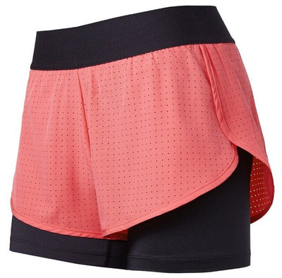 Orange-Back Zipper Pocket  Women's 2 in 1 Quick Dry Jogging Shorts