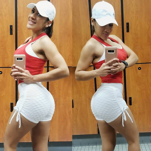 Athletic Breathable High Waist Shorts Bandage