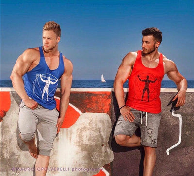Men Sleeveless Stringer Cotton Tank Top
