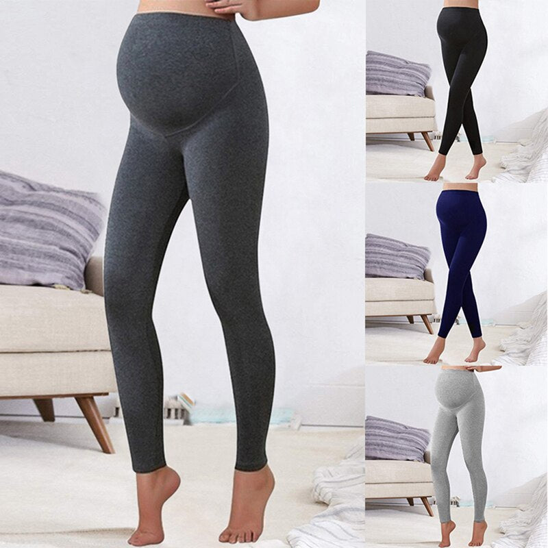 Women High Waist Seamless Elastic Maternity Leggings