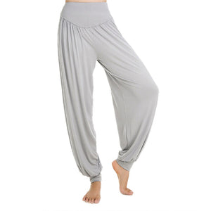 Women Yoga Flare Modal Elastic Waist Loose Long pants