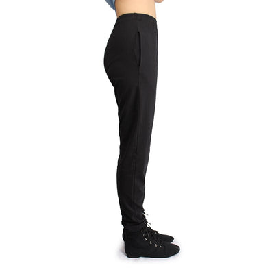 1-Black yoga harem pants Stretchy Top Quality Loose Long