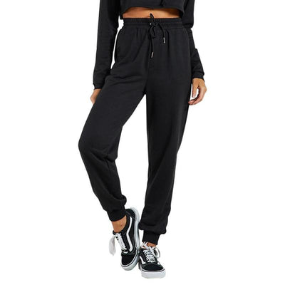 01-Women's high waisted black yoga pants with Pockets