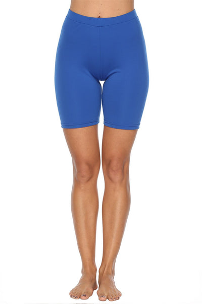 Woment Yoga High Waisted Workout Solid Shorts