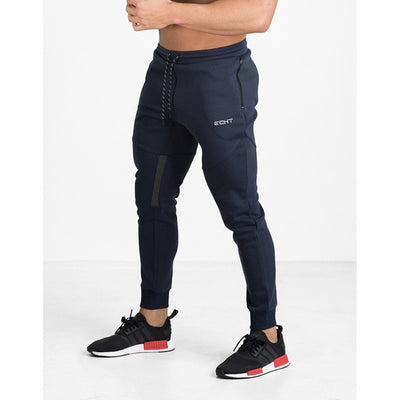 1-Men's black/navy training sweatpants
