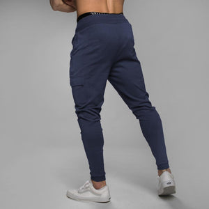 Men's Navy blue workout joggers sweatpants