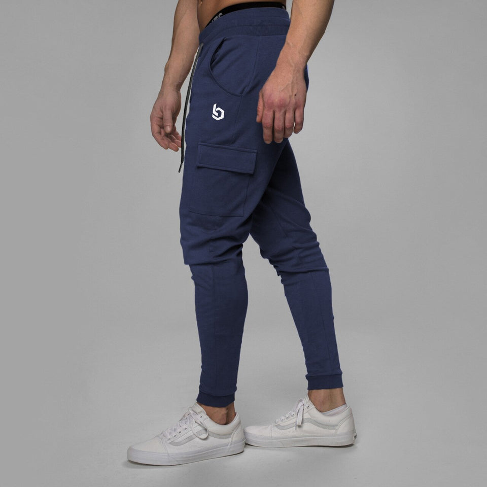 Men's Navy blue workout joggers sweatpants plus size