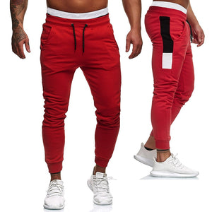 1-Men's red workout joggers pants