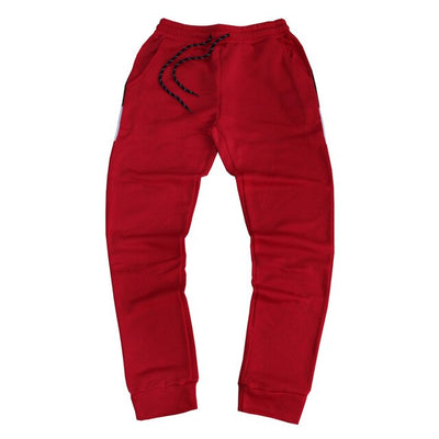 Men's red workout joggers pants