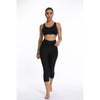 Half Length Anti-Cellulite Black Yoga Capri Leggings