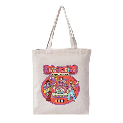 56 Styles Personalized Canvas Vintage Shoulder Bag Women Students Summer Fashion Ulzzang Tote Bags Harajuku Cartoon Casual Bags