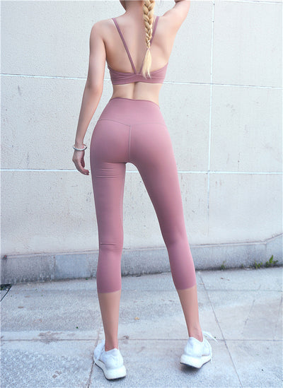 Women's High Waist Sporty Capris Leggins