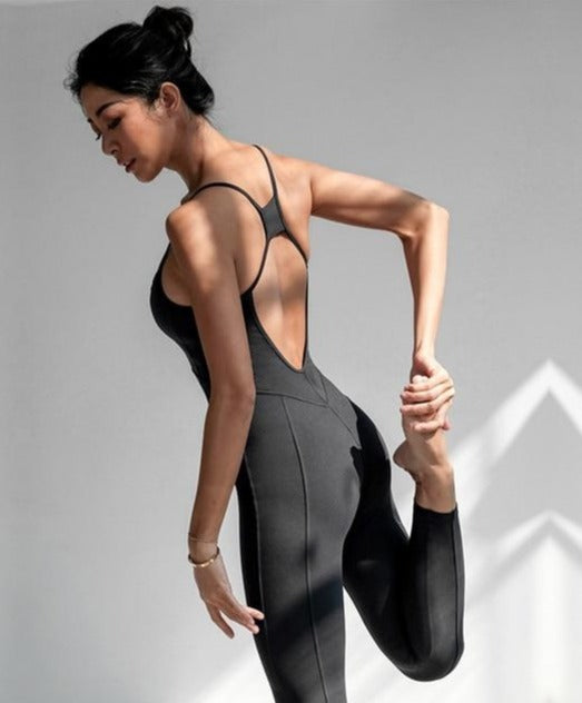 Sleeveless Workout Yoga Jumpsuit