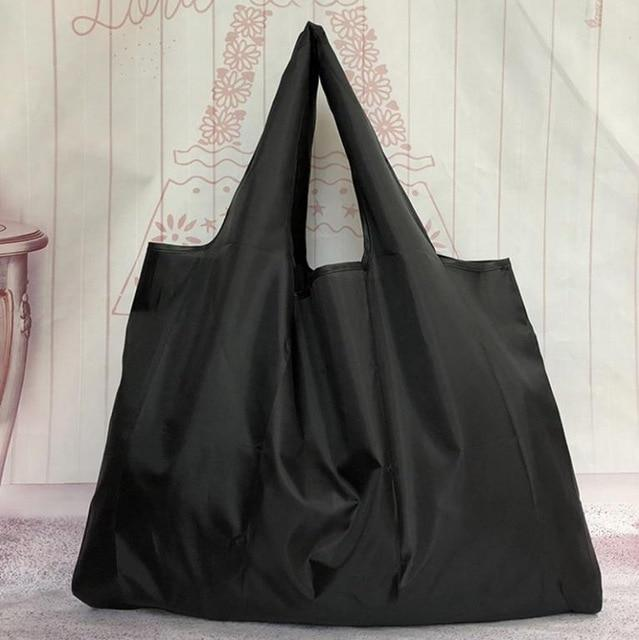 Big Size Thick Magic style Nylon Large Tote ECO Reusable Polyester Portable Shoulder Handbag Folding Pouch Shopping Bag Foldable