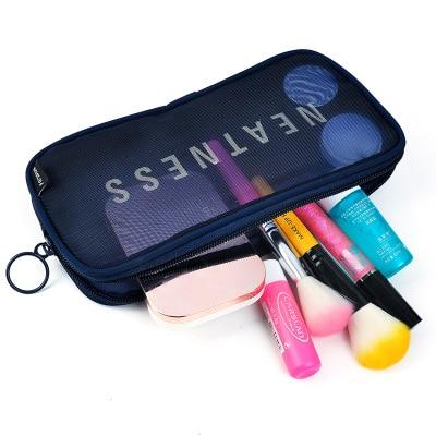 UOSC Travel Cosmetic Bag Women Zipper Make Up Transparent Makeup Case Organizer Storage Pouch Toiletry Beauty Wash Kit Bags