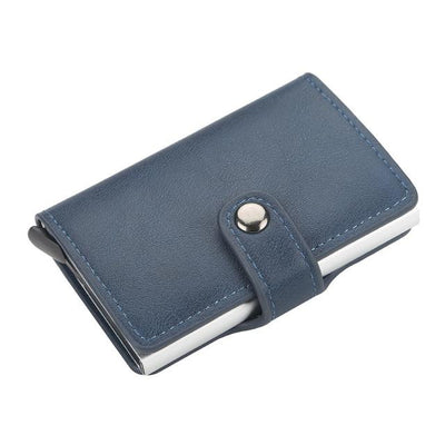 Rfid Wallet Leather Women Wallet Credit Card Holder Card Case Slim Wallet Card Holder Metal Money Bag Anti Theft Wallet