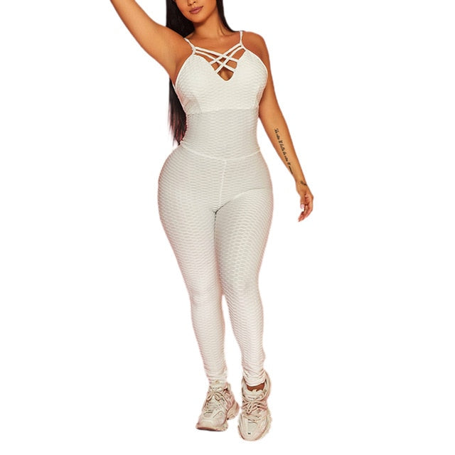 Summer One-Piece Sleeveless Bodycon Jumpsuits