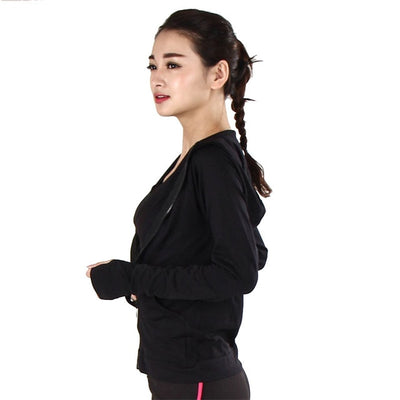 Yoga Zipper Long Sleeve Ladies Hoodies Jacket