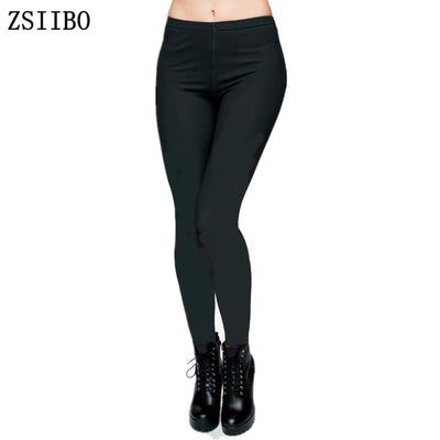 Black Casual Women Sexy Workout Fitness Plus Size Legging Trousers