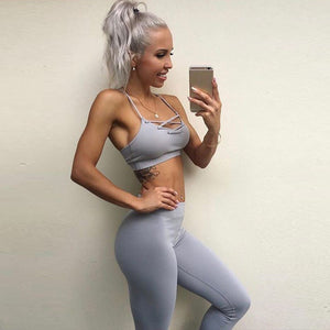 Women's 2Pcs  Fitness Sport Bra+Yoga Pants