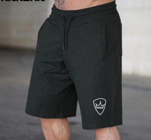 Men's black running shorts Knee Length Sweatpants joggers