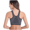 Padded Wirefree Breathable front Zipper PushUp Sports Bras Plus Size