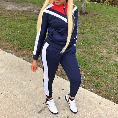 Women Clothing Zipper Sport  suits