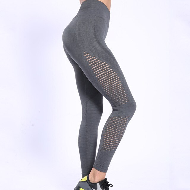Women's Outdoor Mesh Splicing Butt Lifting Sports Pants