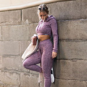 Women 2Pcs/set Sports Bra+Pant