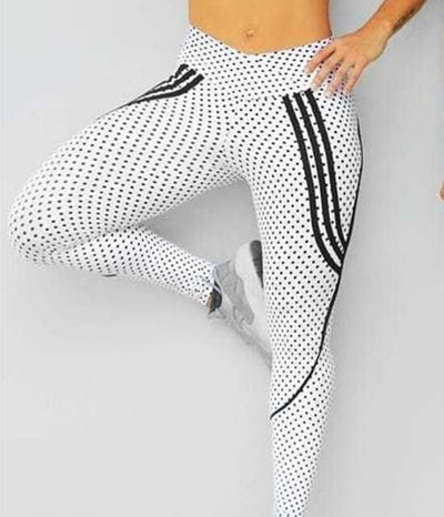 Printing Outdoor Sporting High Waist Leggings For Ladies