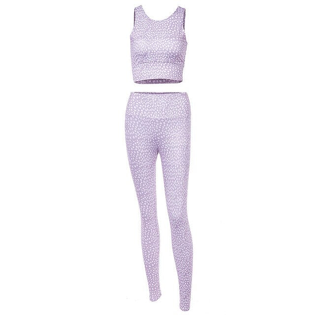New Women Wave Point Fitness Set Casual