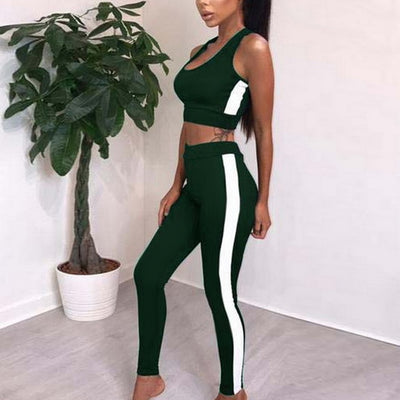 2019 Women's Tracksuit Tights  Fitness Yoga Suit Sportswear