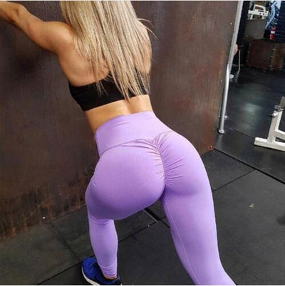 Women high quality Workout Fitness High Waist Hip Push Up Slim Leggings