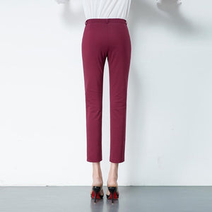 Elastic Slim Skinny Office Work Pant