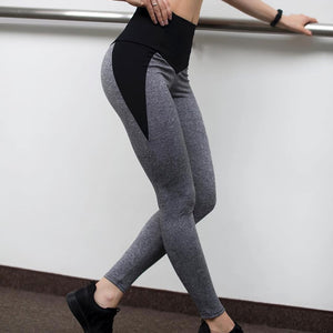 Fashion Patchwork High Waist Elastic Push Up Spandex Ankle-Length Women Leggings