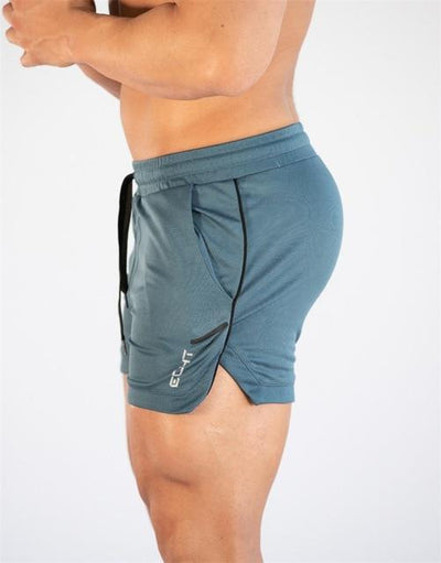 sky blue-Men's compression training workout shorts quick dry