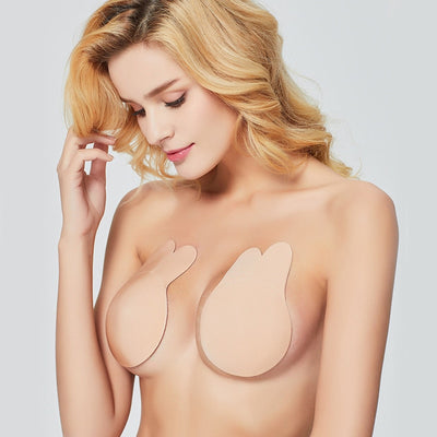 Nipple Breast Pasties Cover Reusable Silicone Invisible Lingerie Pad Enhancers Push Up Bra