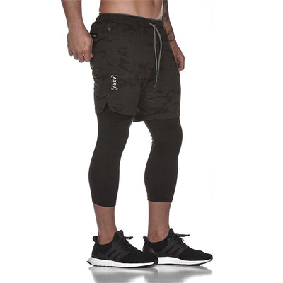 b2-Men's black running shorts Ankle-Length Pants Plus Size XXXL