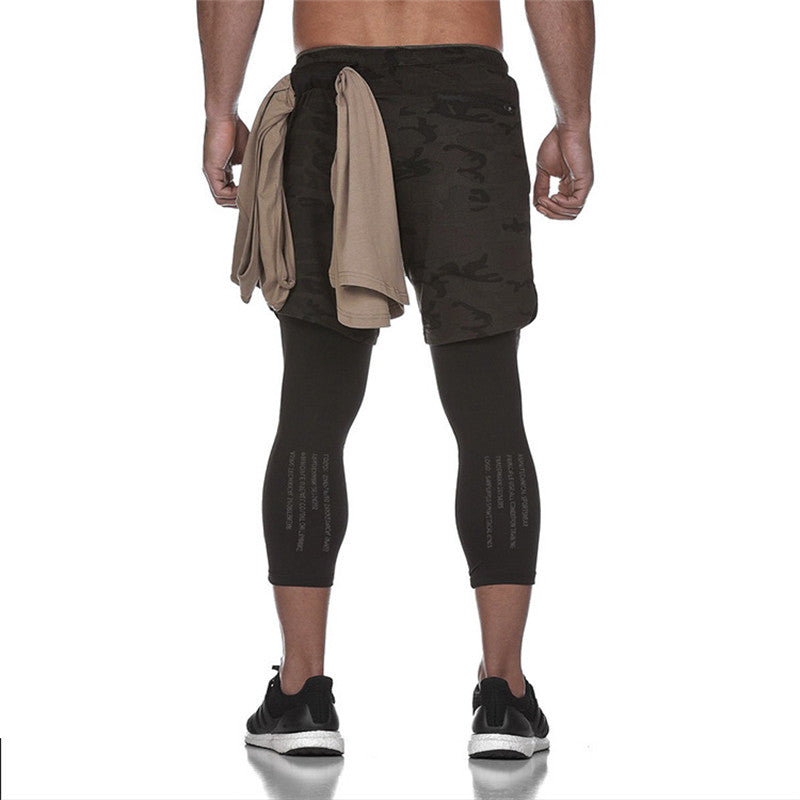 a1*-Men's black running shorts Ankle-Length Pants Plus Size XXXL